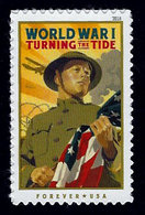 USA, 2018, 5300,World War I, Turning The Tide, Single Forever, MNH, VF - Ongebruikt