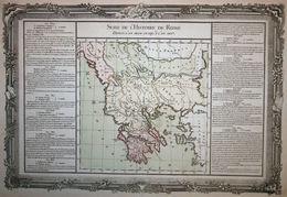 Greece, Albania, Bulgaria; Buy De Mornas - Suite De L'Histoire De Rome - 1762 - Geographical Maps
