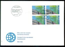 Schweiz 1992 FDC 100 Jahre Zentralamt Für Den Internationalen Eisenbahnverkehr Mi 1488 (4) - FDC