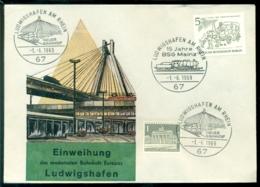 Deutschland Berlin 1969 Spezial Umschlag Einweihung Den Modernsten Bahnhofs Europa Ludwigshafen Mi 330 - [5] Berlin
