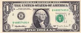 "USA 1 Dollar Of Federal Reserve Notes 1995 WEB PRESS B-H 6/12 UNC ""free Shipping Via Registered Air Mail"" - Billets De La Federal Reserve (1928-...)"