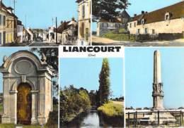 60 - LIANCOURT : Multivues - CPSM Dentelée Colorisée Grand Format 1965 - Oise - Liancourt
