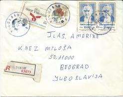 Turkey Registered Letter Via Yugoslavia 1994 - Nice Stamps. - 1921-... République