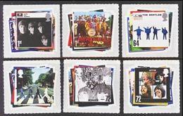 GROSSBRITANNIEN GRANDE BRETAGNE GB  2007 THE BEATLES SET 6V MNH SG 2686-91 SC 2421-26 MI 2474-79 YV 2827-32 - Blocks & Kleinbögen