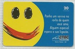 LSJP BRAZIL PHONECARD CHRISTMAS 1998 CTBC TELECOM - Brésil