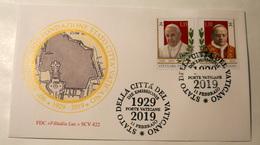 VATICAN 2019, 90TH ANNIV. PATTI LATERANENSI AND FOUNDATION VATICAN CITY STATE FDC - Unused Stamps