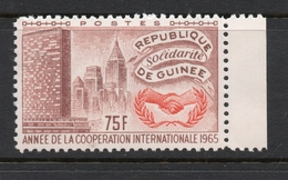 1965 REPUBLIQUE DE GUINEE Anne De Cooperation Nations Unis 75 Fr MNH *** - Guinée (1958-...)