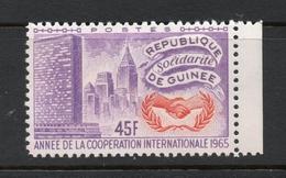 1965 REPUBLIQUE DE GUINEE Annee De Cooperation Nations Unis 45 Fr MNH *** - Guinée (1958-...)
