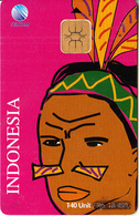 INDONESIA(chip) - Irianese Woman 2, Telkom Telecard 140 Units, Tirage 30000, 04/98, Used - Indonesia