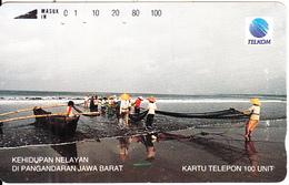 INDONESIA - Kehidupan Nelayan Di Bangandaran Jawa Barat, 11/93, Used - Indonesia