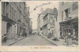 D45 - GIEN - RUE VICTOR HUGO - Société Générale-Café Du Commerce-Hôtel De L'Ecu-E. Regrettier-Charrette - Gien