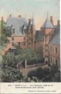 D45 - GIEN - LE CHÂTEAU CÔTE DE LA SOUS PREFECTURE  (XVe Siècle) - Carte Colorisée - Gien