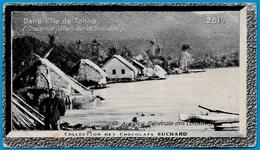 """IMAGE - Dans L' ILE De TAHAA Océanie Iles De La Société °  Chocolat Suchard """"Collection Coloniale"""" * - Suchard"""