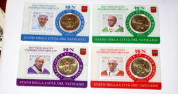 VATICAN 2019, THE STAMPS & COIN CARDS COMPLETE SET - Vaticano