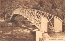STAVELOT - Passerelle De Challes Sur L'Amblève - Stavelot