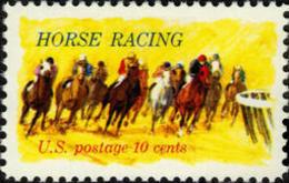 1974 USA Horse Racing Stamp Sc#1528 Sport - Nature