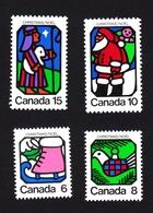Christmas - Santa Claus, Ice Skate, Dove, Shepherd & Star - Canada 1973 MNH #625-628 - Lithography - 1952-.... Règne D'Elizabeth II