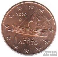 Griechenland GR 1 2002 G Stgl./unzirkuliert Mit Geheimzeichen 2002 Kursmünze 1 Cent - Grèce