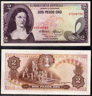 COLOMBIA - 1976 - DOS PESOS ORO ( $ 2 ) - UNCIRCULATED. CONDITION 9/10 - Colombie