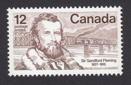 Sir Sandford Fleming 1827-1915, Canada 1977 MNH #739 - Engraved - 1952-.... Règne D'Elizabeth II