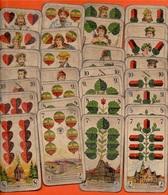 SCHAFKOPF Jeu De Cartes Allemand Incomplet (manque 2 Cartes) Avec Représentation De Villes - 32 Cartes