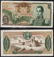COLOMBIA - 1963 - CINCO PESOS ORO ( $ 5 ) - UNCIRCULATED. CONDITION 9/10 - Colombie