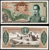 COLOMBIA - 1967 - CINCO PESOS ORO ( $ 5 ) - UNCIRCULATED. CONDITION 9/10 - Colombie