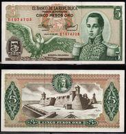 COLOMBIA - 1971 - CINCO PESOS ORO ( $ 5 ) - UNCIRCULATED. CONDITION 9/10 - Colombie