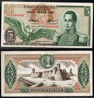 COLOMBIA - 1973 - CINCO PESOS ORO ( $ 5 ) - UNCIRCULATED. CONDITION 9/10 - Colombie