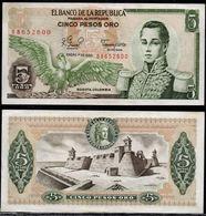 COLOMBIA - 1980 - CINCO PESOS ORO ( $ 5 ) - UNCIRCULATED. CONDITION 9/10 - Colombie