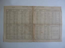 ALMANACH - CALENDRIER  POSITIVISTE   1881  Imp .Vve P.  LAROUSSE Et Cie  Pour La 93me Année De La Grande Crise- Alb 2019 - Calendriers