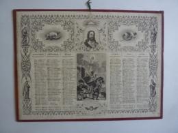 ALMANACH - CALENDRIER  1841  Lithographie  - Religion- Allegorie Descentee De Croix , Resurrection   Fév 2019 Alb 4-2 - Calendriers
