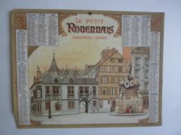 ALMANACH - CALENDRIER  1902  Chromo LE PETIT ROUENNAIS  Journal Politique Quotidien Publicité    Fév 2019 Alb 4-2 - Grand Format : 1901-20