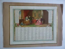 CHROMOS- ALMANACH -CALENDRIER 1858  -Chromo Allégorie De La Famille  Par Thurwanger - Calendriers
