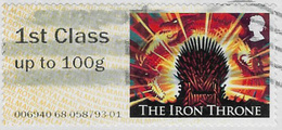 GB 2018 Game Of Thrones Post And Go 1st Class Issue Code 006940 Used [32/179/ND] - Great Britain