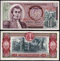 COLOMBIA - 1970 - DIEZ PESOS ORO ( $ 10 ) - UNCIRCULATED. CONDITION 9/10 - Colombie