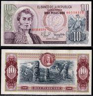 COLOMBIA - 1980 - DIEZ PESOS ORO ( $ 10 ) - UNCIRCULATED. CONDITION 9/10 - Colombie