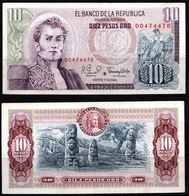 COLOMBIA - 1980 - DIEZ PESOS ORO ( $ 10 ) - REPLACEMENT - UNCIRCULATED. CONDITION 9/10 - Colombie