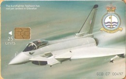 Gibraltar - GIB-C-07, Air Forces, Eurofighter Typhoon, 3000ex, 1999, Used As Scan - Gibraltar