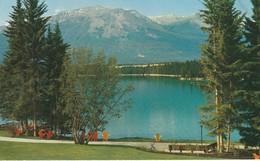 Whistlers' Mountain, Looking Across The Jasper Park Lodge And Lac Beauvert,  Mountain Named For Whistling Marmot - Jasper