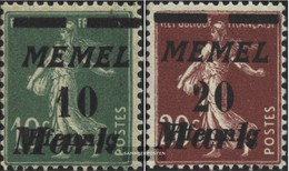 Memelgebiet 108-109 (completa Edizione) Con Fold 1922 Complementare Issue - Memelgebiet