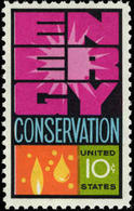 1974 USA Energy Conservation Stamp Sc#1547 Molecule Oil Water - Oil