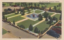 Indiana Hammond City Hall Garden 1946 Curteich - Hammond