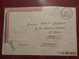 """Lettre Du Japon Avec Cachet """" Taxe Percue"""" De 1984 Pour Brest - Japan"""