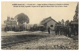 CPA 76 CLERES Ligne De Clères à Gueures Et Ouville La Rivière - Arrivée Du Train - Clères