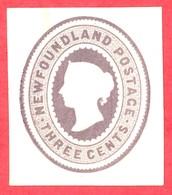 Canada Newfoundland # U1 Mint H VF- Queen Victoria - 3 Cents - Newfoundland