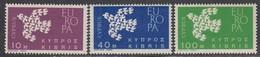 Cyprus 1962 - EUROPA, Mi-Nr. 197/99, MNH** - Cyprus (Republic)