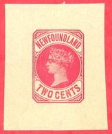 Canada Newfoundland # PB2 Mint H VF- Queen Victoria - 2 Cents - Newfoundland