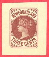 Canada Newfoundland # PB3 Mint H VF- Queen Victoria - 3 Cents - Newfoundland
