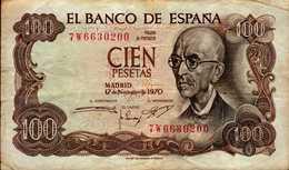 EL BANCO DE ESPANA   100 PESETAS....1970 - 100 Pesetas